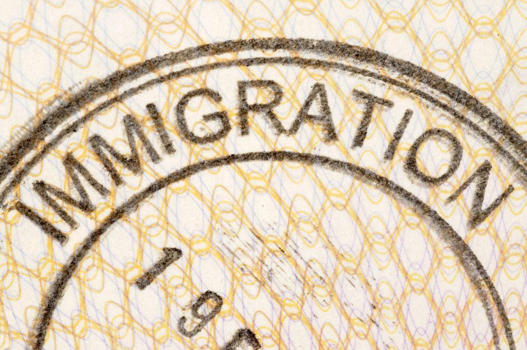immigration passport stamp